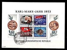 DDR Block 9 A,  K. Marx Block  gezähnt,  2 Tagesstempel, einwandfrei, siehe Bild