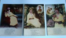 Postcards song cards - Laddie In Khaki - 1.2.& 3 - Bamforth - unposted xxx