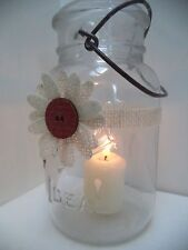 5 Rustic Burlap Red Mason Jar Candle Shower Country Wedding Party Wraps AU38