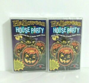 Halloween House Party Classic Hits Spooky Sound Effects Cassette Tapes Lot of 2