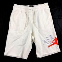 Nike Air Jordan 5 Jumpman Fleece Shorts White Orange Blue AR7958-100 Men's S-XXL