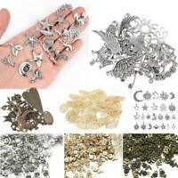 Wholesale 50pcs Bulk Tibetan Silver Mix Charms Pendants Jewelry Making DIY Gifts