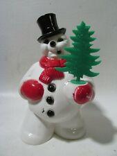 Vtg Christmas Frosty Light-up Glow Rosbro Figure Original Tree - Excellent