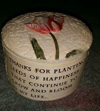"Mom Heart Trinketbox with sentimental saying about mom. 2.5"" tall x 3.5"" Wide"