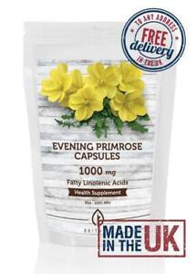 Evening Primrose Oil GLA EPO 1000mg 120 Capsules ✔Letterbox Friendly