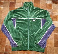 Vtg FILA Green Blue Jacket Track Warm Up Bjorn Borg Tennis Men Small S /M Velour