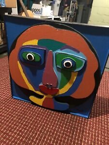 Larry Pazol Abstract Woman American Folk Art Signed Wood Sculpture Wall Hanging