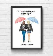 Personalised Friends TV Show Custom I'll Be There For You Best Friend Print Gift