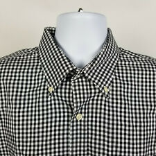 Peter Millar Nanoluxe Easycare Black Gingham Check Mens Dress Button Shirt XL