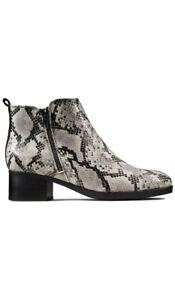 Clarks Women's Mila Sky Grey Snake Boots UK 7 EU 41