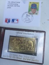 Nolan Ryan-'89 Official 1st Day of Cover 23 KT Gold Stamp-5000 Strikeouts #1351