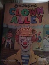 RED SKELETON'S CLOWN ALLEY GIANT 1977 COLORING BOOK