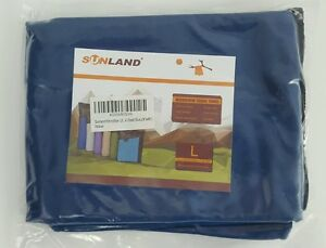 """Sunland Microfiber Towel  Compact Absorbent Soft Drying Travel Blue L 24"""" x 48"""""""