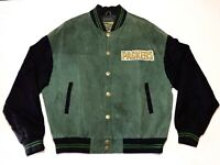 G III NFL Green Bay Packers Leather Jacket Mens Size XL Vintage Carl Banks Rare