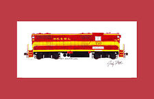 """Nashville Chattanooga & St. Louis GP7 11""""x17"""" Matted Print Andy Fletcher signed"""