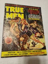 True Men Magazine, 1962 Sept, Nazi, torture, GGA, pulp, bondage, men's adventure