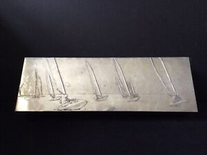 Wendell August Forge Aluminum Divided Box with Sailboats