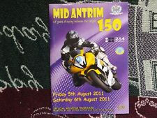2011 CLOUGH MOTOR CYCLE ROAD RACES PROGRAMME 6/8/11 - MID ANTRIM 150