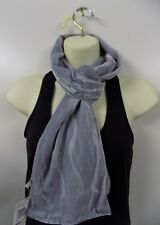 Ladies EX M&s Velvet Feel With Silk Scarf Silver Grey J28