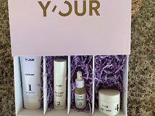 Y'Our Acne & Hydration Facial Regimen 4-Step System 2 Mo Supply, Nib Natural $⬇�