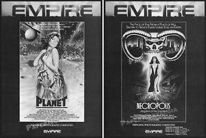 PLEASURE PLANET_/_NECROPOLIS__Orig. 1986 2-sided Trade AD / ADVERT__Vicious Lips