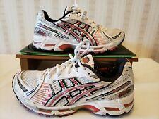 Asics Gel-Kayano 12 White/Platinum/Raspberry Running Shoes TN650 Women Sz 7 M