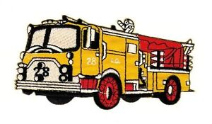 Af80 Fire Brigade Car Sew-On Iron-On Application Patch Patches Emergency Vehicle