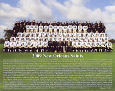 2009 NEW ORLEANS SAINTS SUPER BOWL  WORLD CHAMPIONS TEAM 8X10 COLOR PHOTO