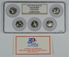 2004-S 25c SILVER STATE QUARTERS 5-COIN PROOF SET *NGC ULTRA CAMEO* LOT#W949