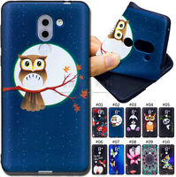 For Huawei Honor 6X TPU Back Painted Skin Cover Protective Soft Embossing Case