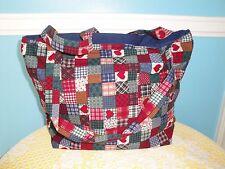Purse Bag Tote  Handmade Americana red white & blue inside and outside pocket