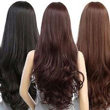 Neuf Mode Femmes Cheveux Longs Perruque Intégrale Naturel Bouclé Ondulé Lisse