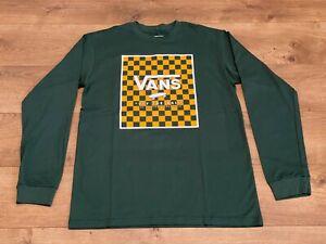 Vans Print Box Long Sleeve Boys T-Shirt Green-Yellow SZ M ( VN0A3IIKZZK ) NWT!!!