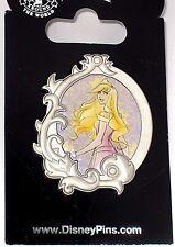 Disney Pin✿Sleeping Beauty Aurora Stylized Princess Portrait Silver Frame PINK