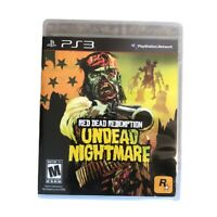 Red Dead Redemption: Undead Nightmare (Sony PlayStation 3 Complete Manual & Map