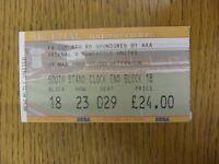 23/03/2002 Ticket: Arsenal v Newcastle United [FA Cup] (folded). Footy Progs/Bob