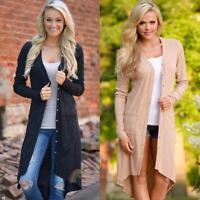 Fashion Women Cardigan Long Sleeve Knitted Loose Sweater Jacket Coat Outwear Top