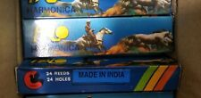 New Lot of 4 Halo harmonica new in box made in India