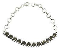 fine Smoky Quartz 925 Sterling Silver Brown Bracelet Natural jewelry US