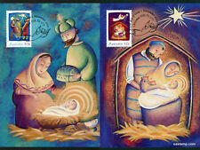 2002 Christmas Maxi Cards Prepaid Postcard Maxicards Stamps Australia