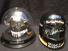 Rusty Wallace Signed Pair of Mini Helmets