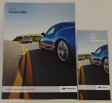 2013 13  Subaru  BRZ  original sales brochure + Accessories pamphlet MINT