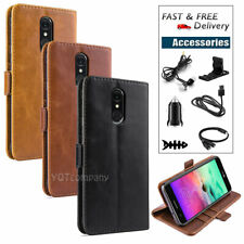 Leather Wallet Magnetic Cover Card Case For Lg Stylo 4 / Q Stylus + Accessories