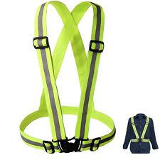 Adjustable Safety Security High Visibility Reflective Vest Gear Stripe Jacket HK