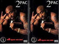 2Pac All Eyez On Me 1996 RARE 2 Cassette Tape Album Set Lot Hiphop Tupac Shakur