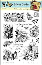Mystic Garden Clear Unmounted Rubber Stamp Set 17 Stamps HOTP 1188 Butterfly New
