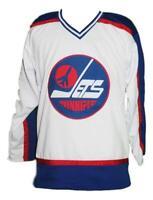 Any Name Number Size Winnipeg Jets Custom Hockey Jersey White Selanne
