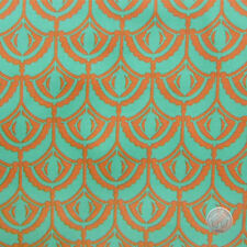 Anna Maria Horner Drawing Room Plume Green Cotton Fabric by the Yard