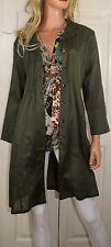 NWT CAbi Got You Covered Style 341 Jacket or Shirt Dress Size Medium Olive