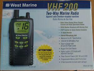 WEST MARINE VHF 200 TWO-WAY MARINE RADIO